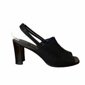 Stuart Weitzman Square Toe Slingback Block Heels